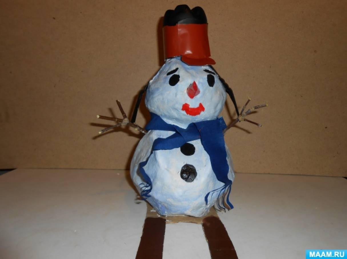Мастер-класс «Снеговик из картона»
