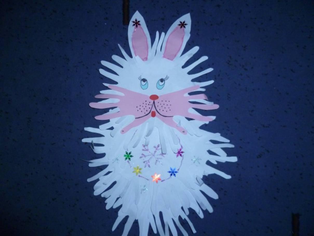 картинка зайца из ладони объехали все