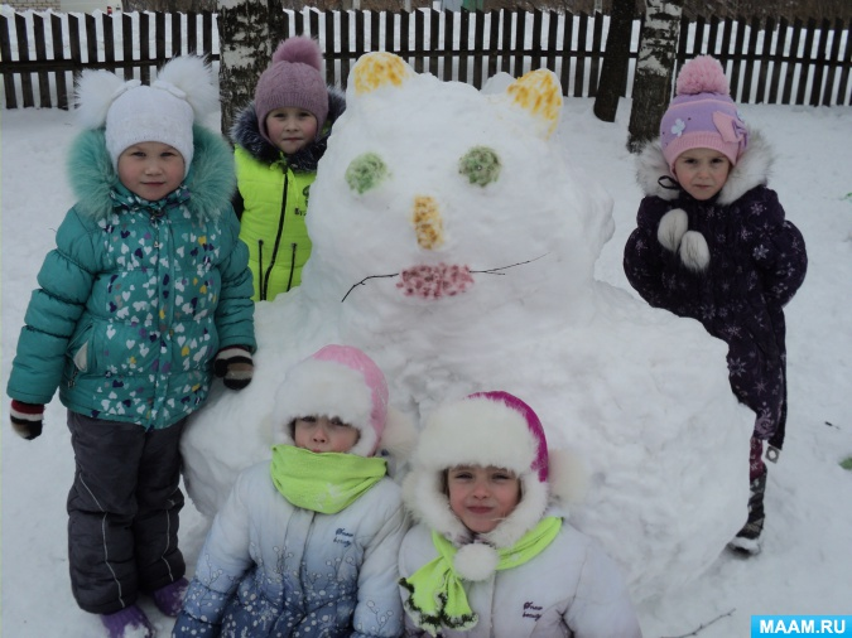 Фотоотчет «Оформление участка зимой в детском саду»