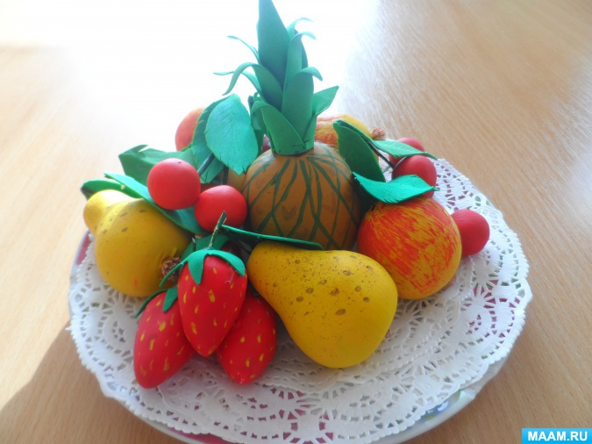 Мастер-класс изготовления муляжей из синтетической глины «Фрукты и ягоды»