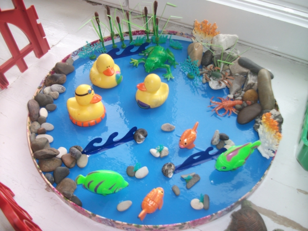 Как сделать озеро в детском саду фото