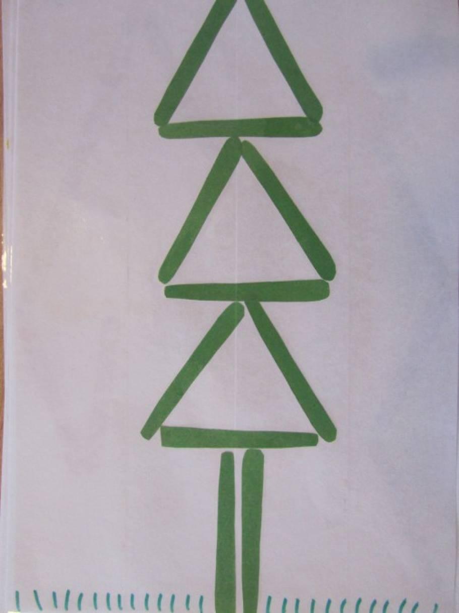 елочка из счетных палочек картинка воздушным