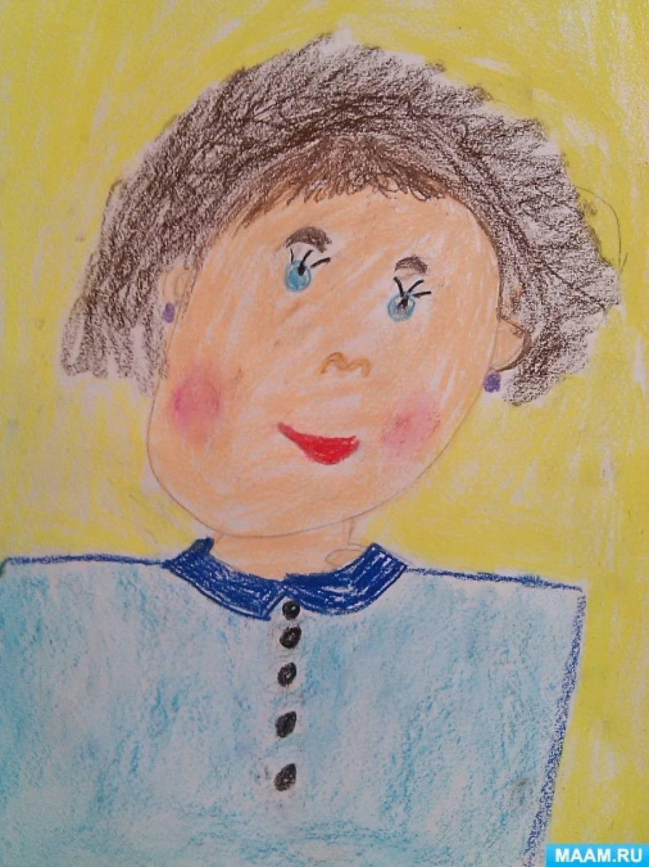 Мамин портрет к празднику 8 марта