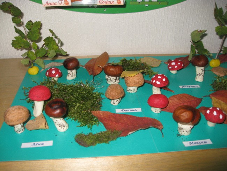 Поделки для детского сада на тему грибы 45