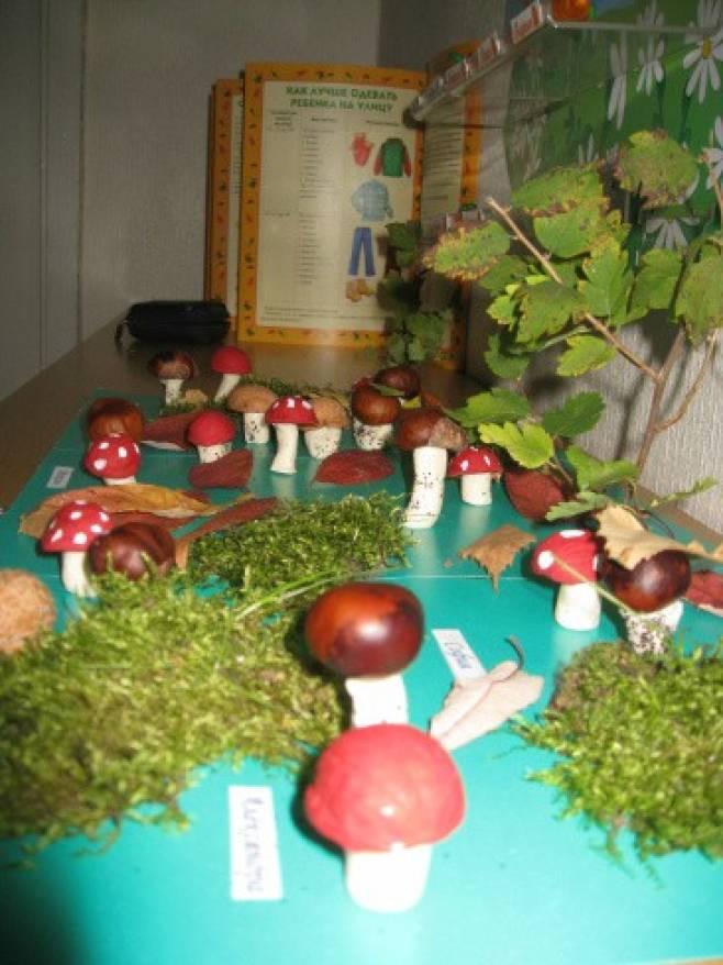 Поделки не из природного материала грибная полянка