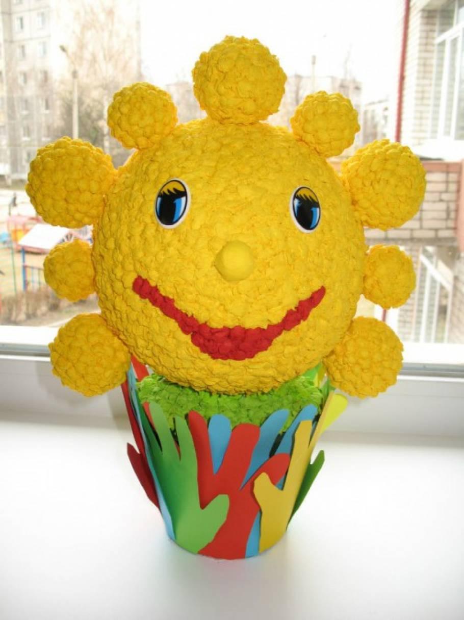 Поделка солнце. Как и из чего Сделать поделку солнышко в детский сад