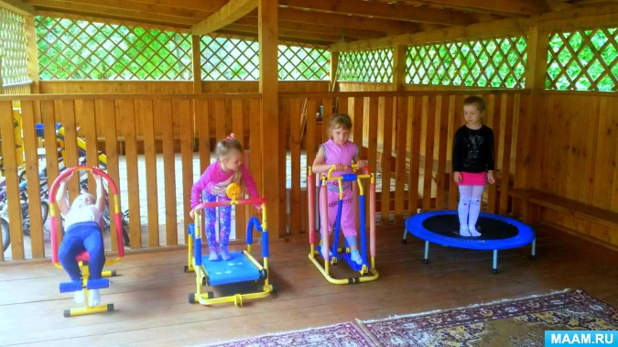 Организация двигательной активности дошкольников в летний период