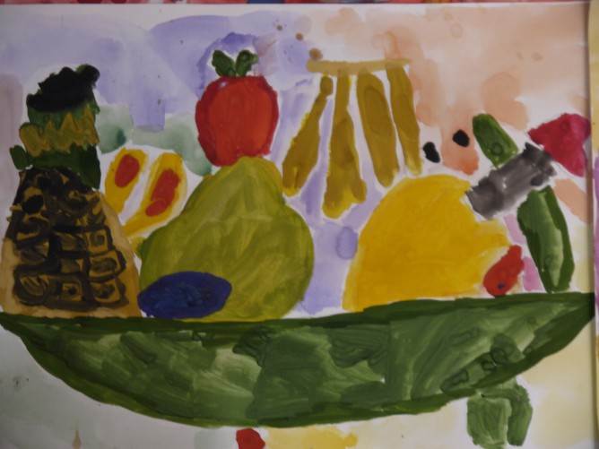 рисунок натюрморт 6 класс фрукты