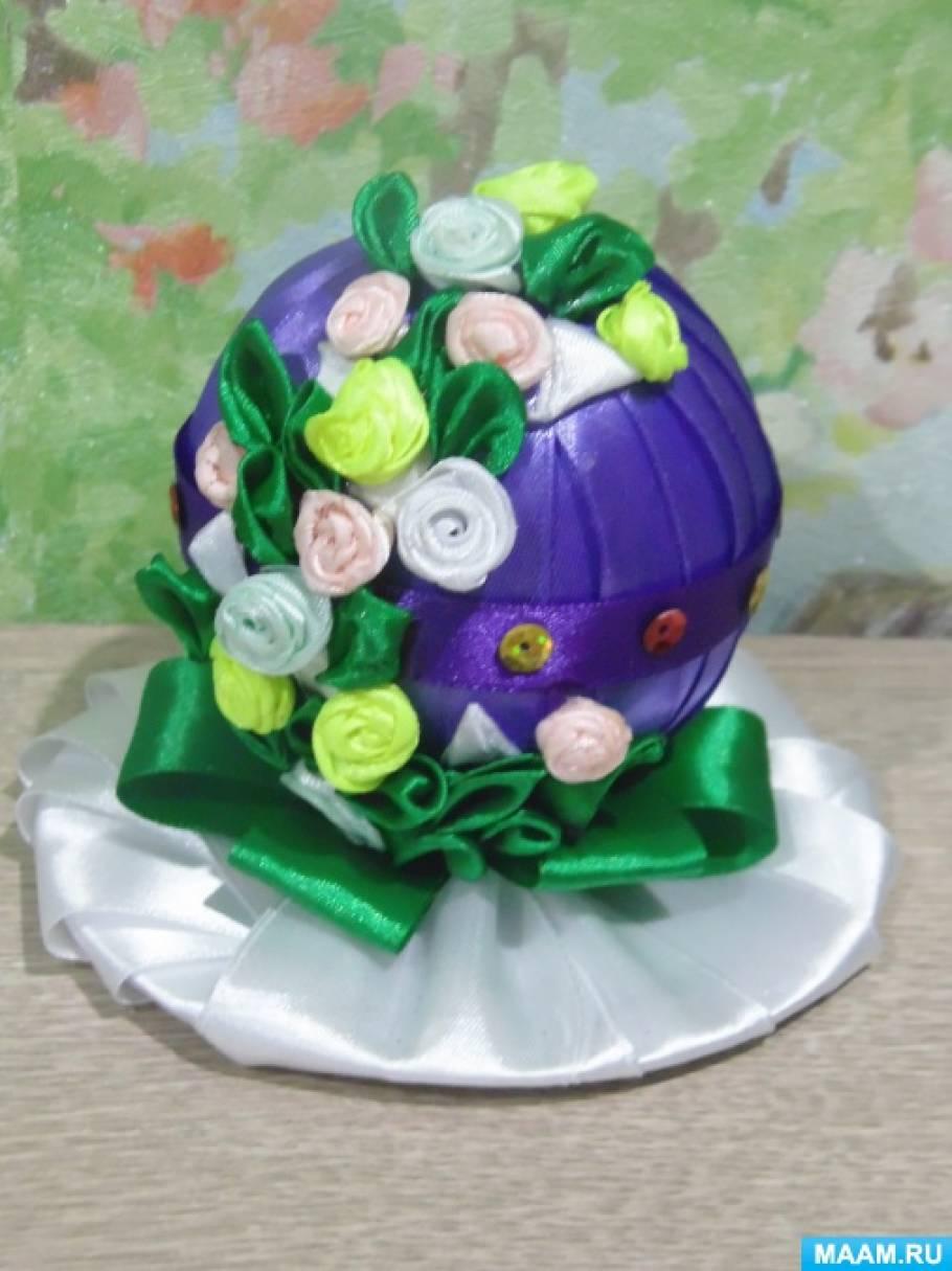 Пасхальное яйцо в стиле канзаши.