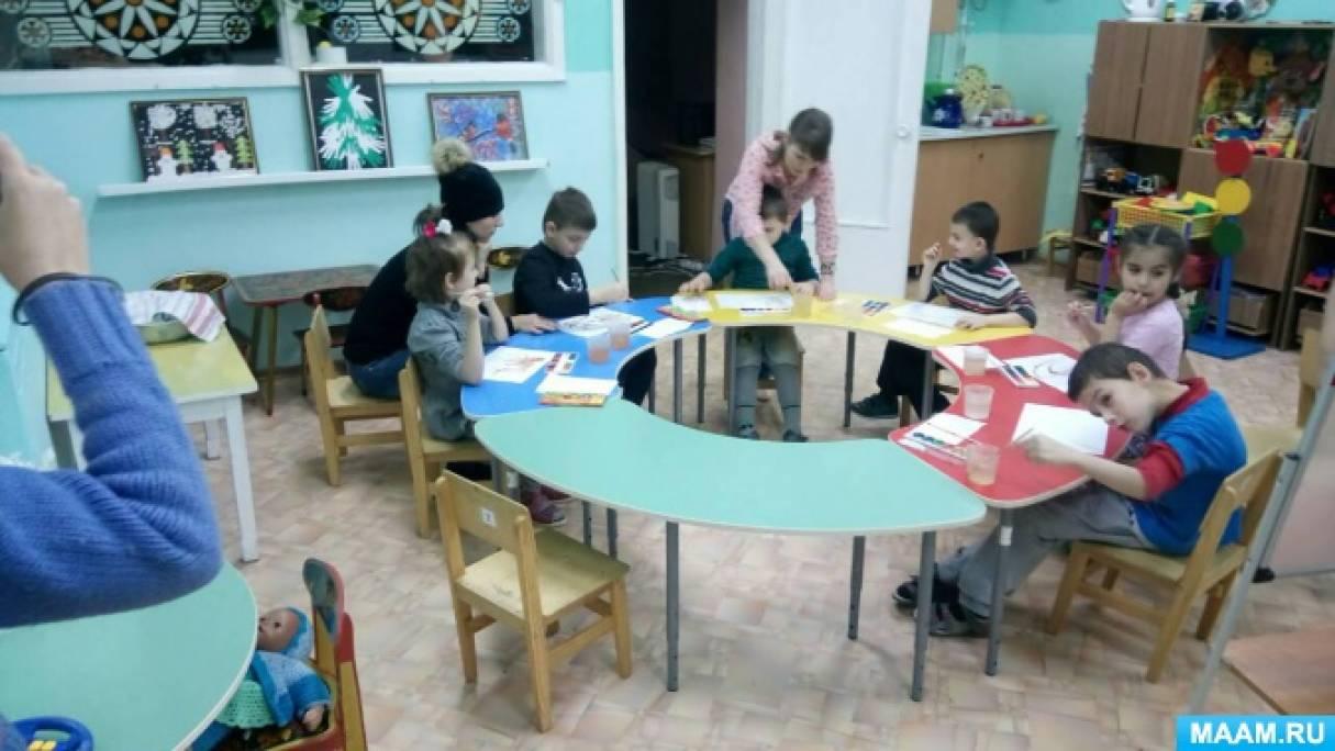 Фотоотчет о мастер-классе по рисованию «Рябина красная»