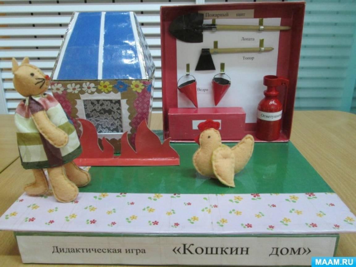 Дидактическая игра «Кошкин дом. Опасные ситуации во время пожара»