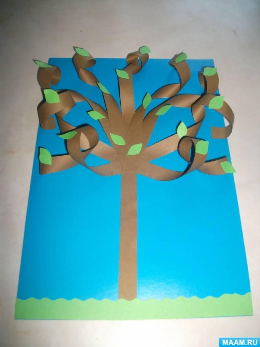 detsad-1225102-1502426631 Как сделать объемное дерево из бумаги. Объемное дерево из бумаги своими руками. Делаем объемное дерево из бумаги своими руками. Инструкция пошагово.
