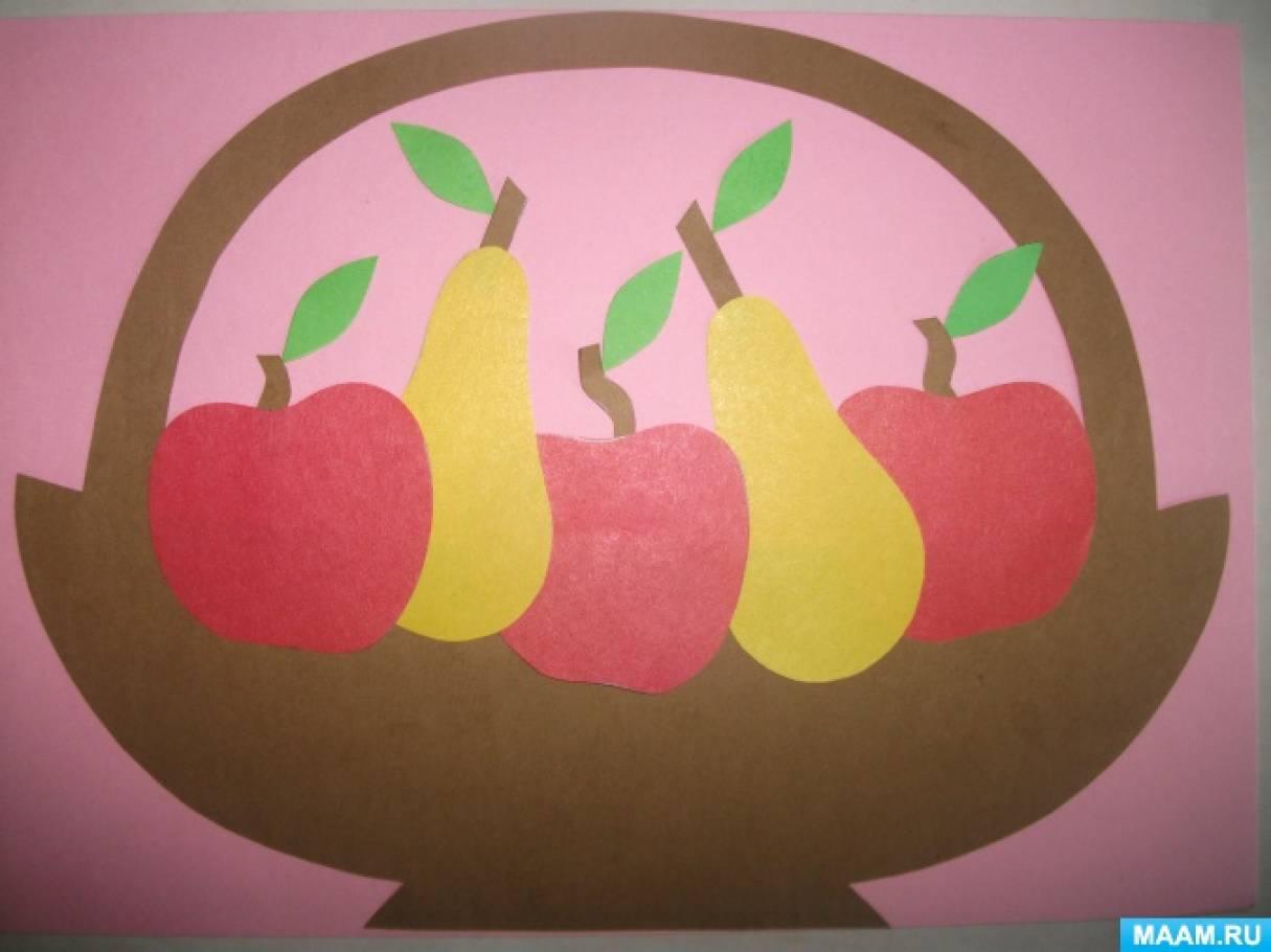 деле фрукты из цветной бумаги аппликация лайки инстаграме