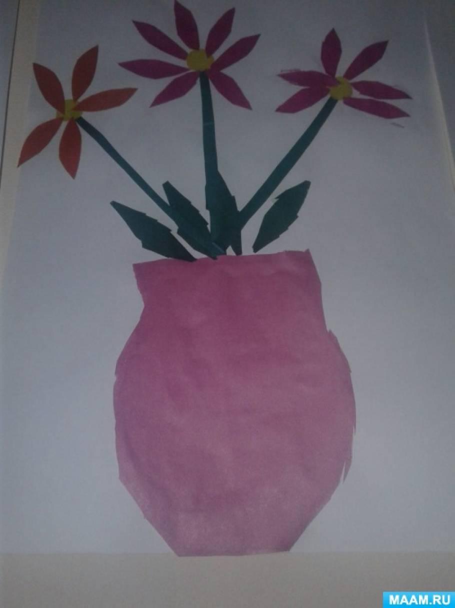 Конспект занятия по аппликации открытка для мамы средняя группа, слова картинках