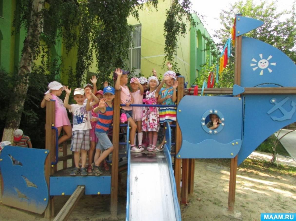 Конспект спортивного развлечения для детей старшего возраста «Мы-моряки!»