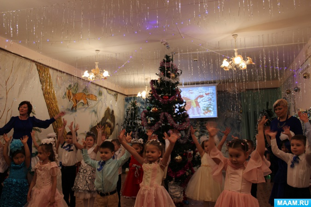 Сценарий новогоднего праздника в подготовительной группе с участием родителей