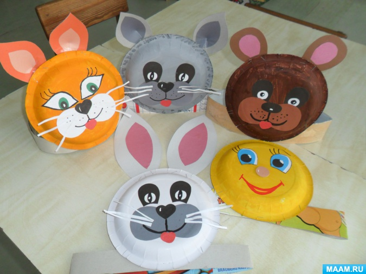 Мастер-класс «Изготовление театральных масок к сказке «Колобок»