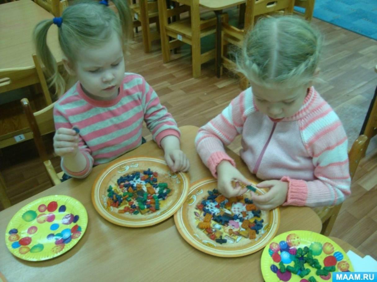 Дидактическая игра из макарон «Транспорт» для детей от 3 лет