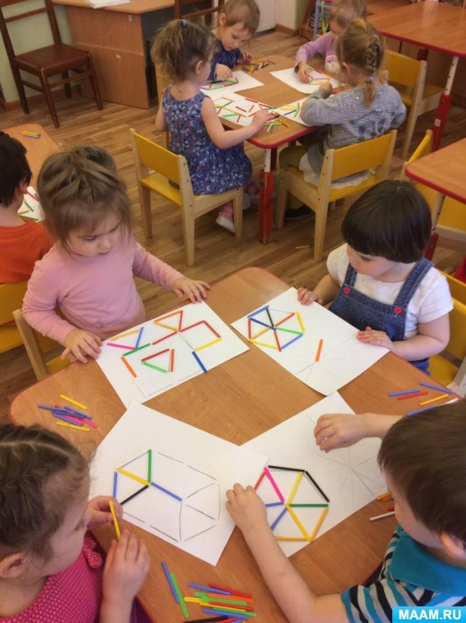Конспект занятия со счётными палочками в младшей группе «Колобок»