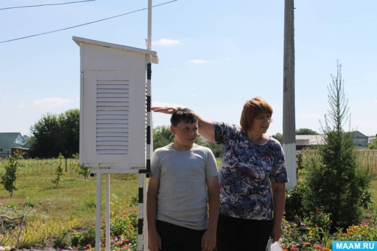 Метеорологическая площадка в сельской школе