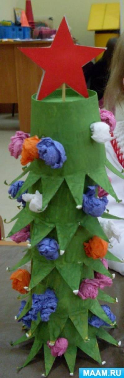 Мастер-класс «Новогодняя ёлочка из бумажных стаканчиков»