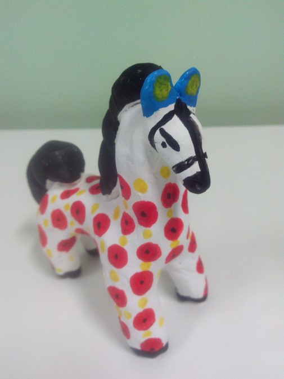 Лошадь из глины мастер класса 144