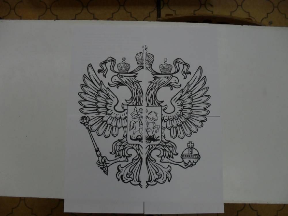 Рисунок герба и флага россии карандашом планах