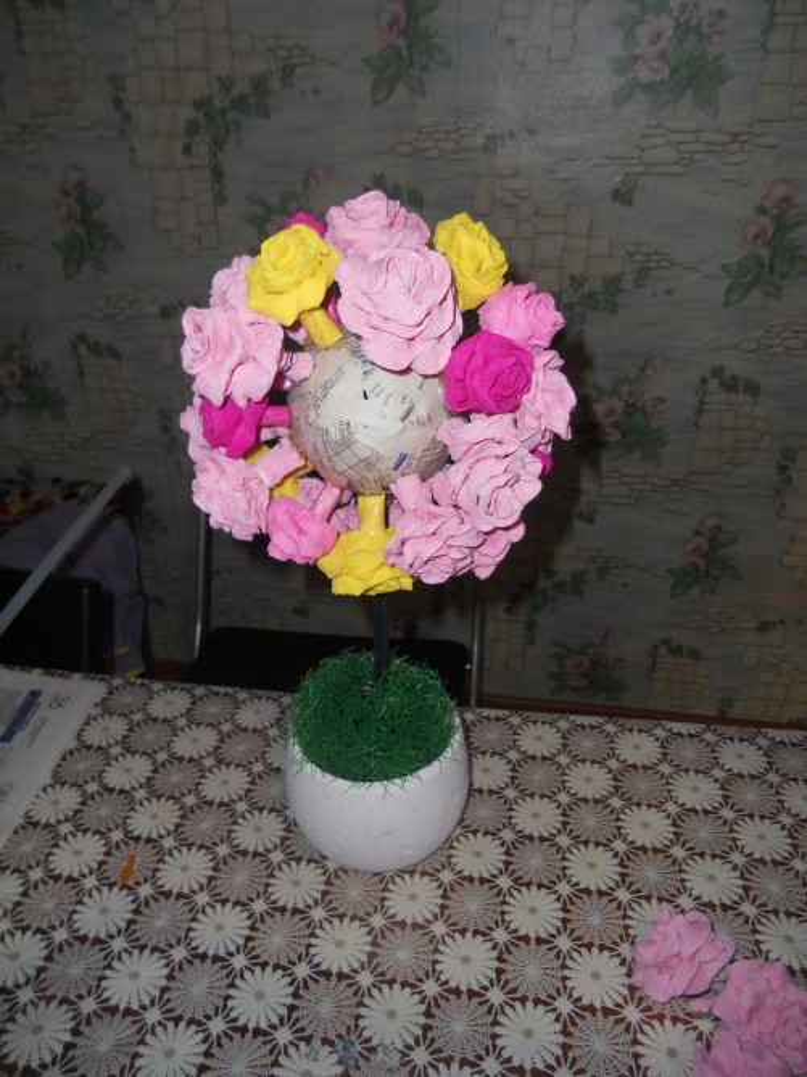 Цветок счастья своими руками фото