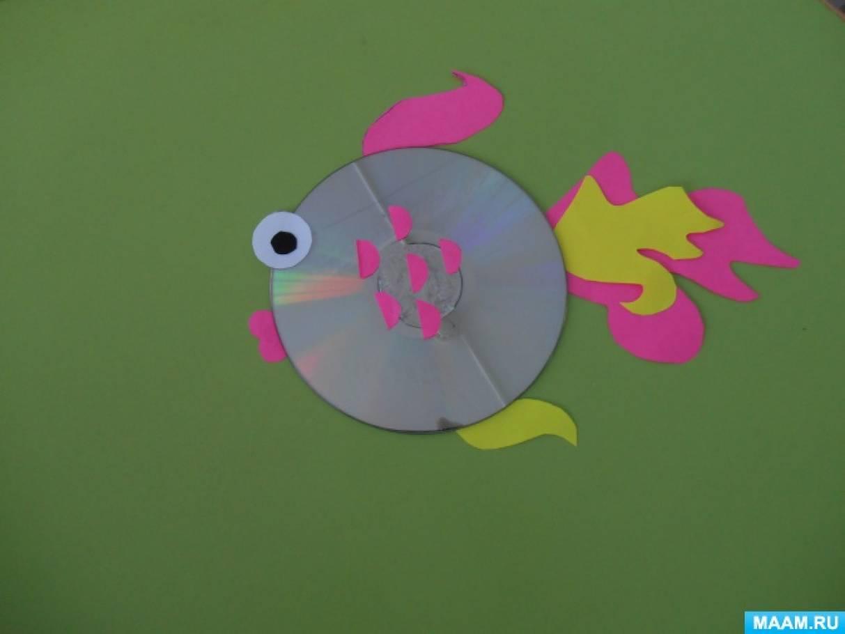 Мастер-класс по изготовлению поделки на основе CD диска «Подарок для мамочки «Золотая рыбка»