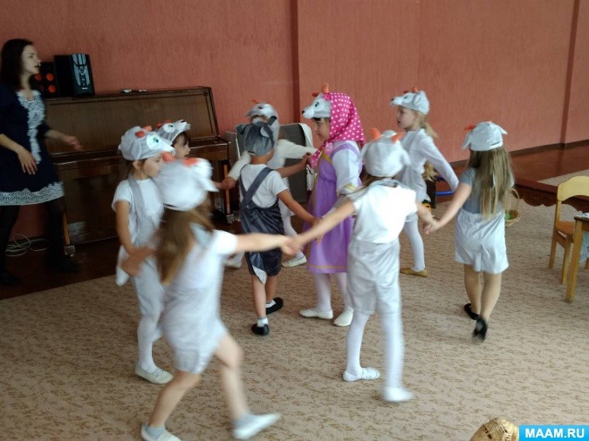 Музыкальный спектакль «Волк и семеро козлят»в подготовительной группе