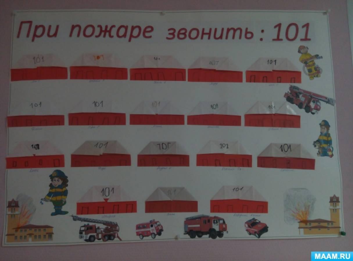 Коллективная работа на неделе пожарной безопасности «Пожарное депо»