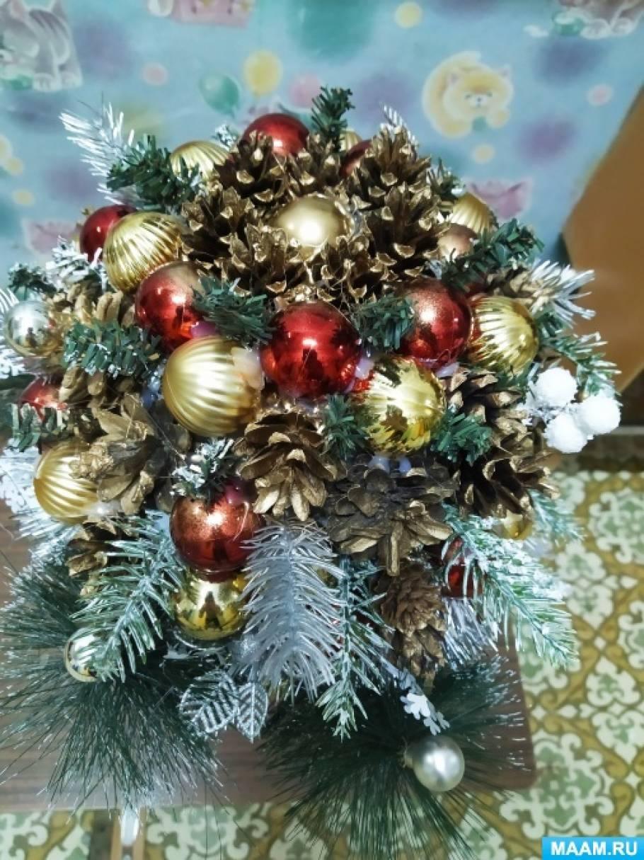 Мастер-класс «Зимний топиарий «Новогоднее чудо»
