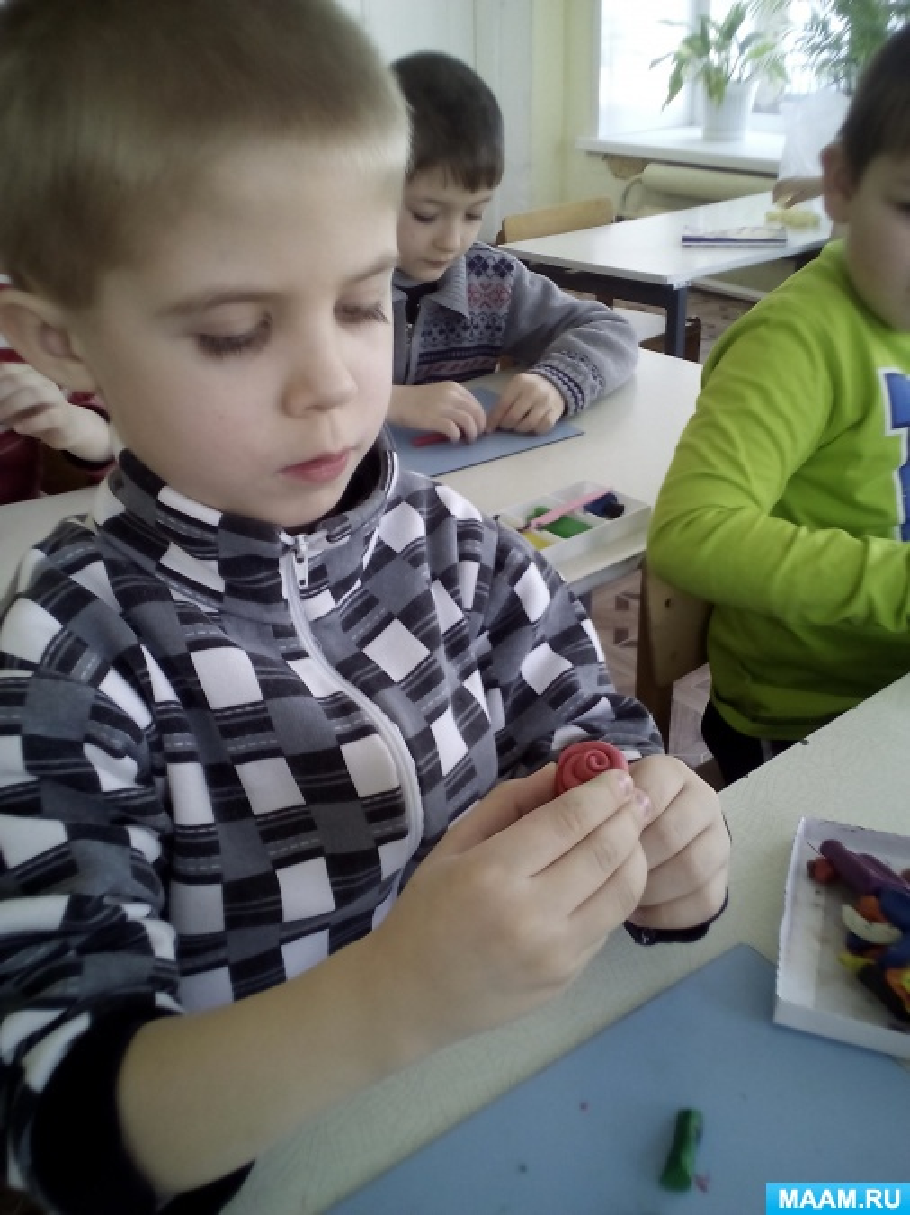 Конспект НОД с детьми подготовительной к школе группы по лепке «Розы из пластилина»