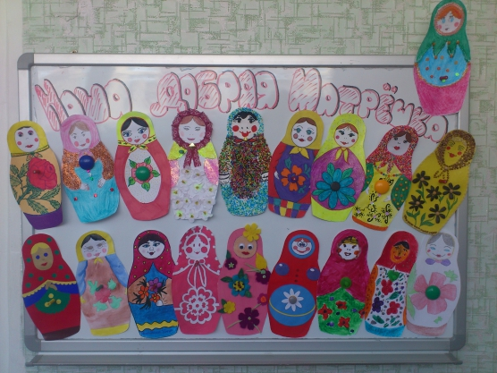 знакомство с русской матрешкой в детском саду