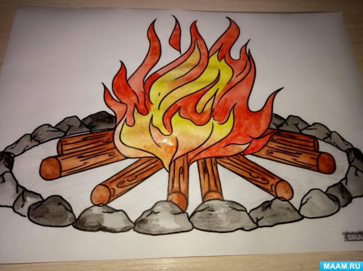 продаже рисунки карандашом огонь друг помешает специальный ящик