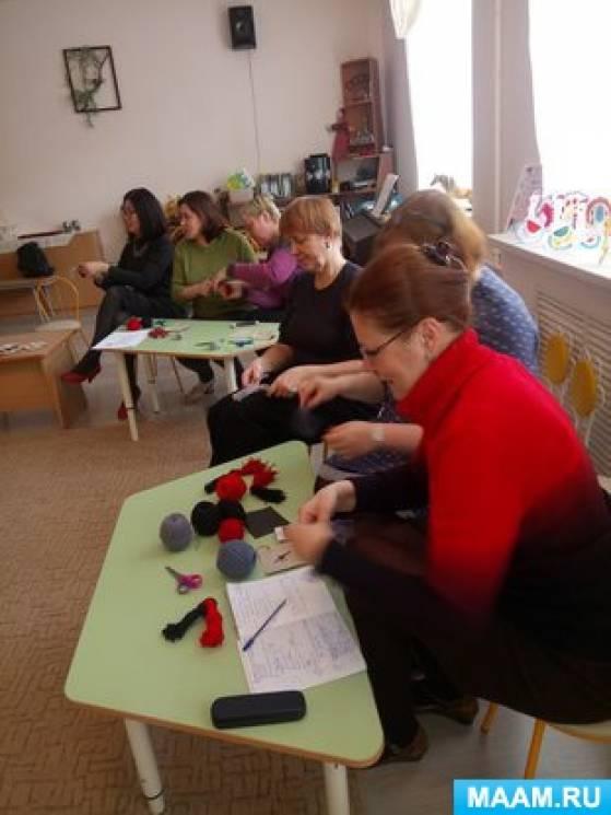 Мастер-класс для педагогов «Снегири»