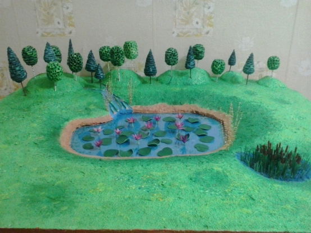Мастер-класс: макет ландшафта «Лотосовое озеро»
