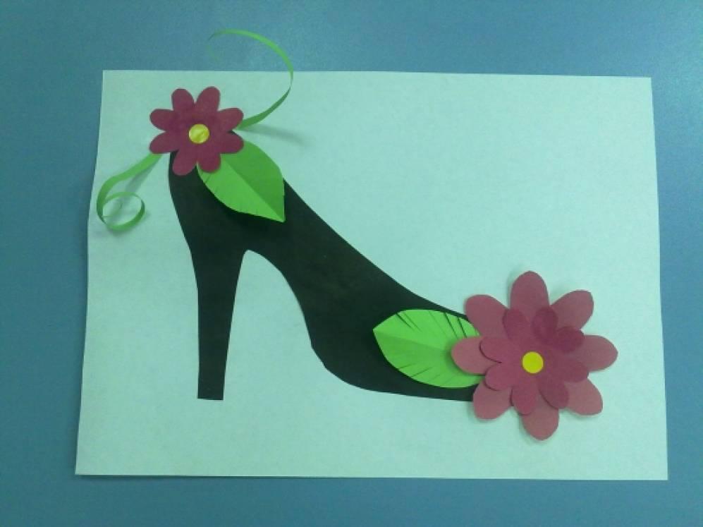 Бабушке дедушке, туфелька открытка для мамы