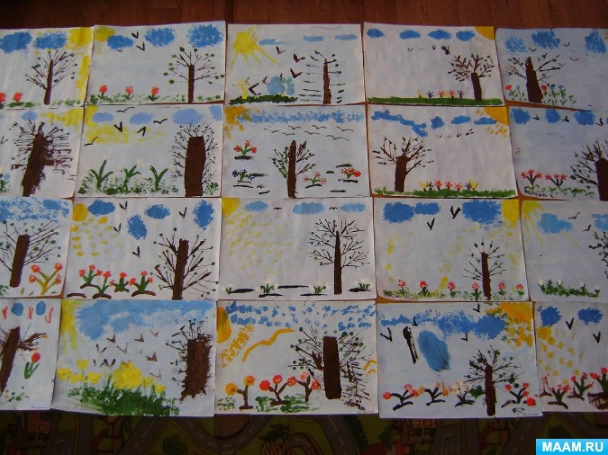 рисование на тему весна в младшей группе картинки чем арендовать помещение