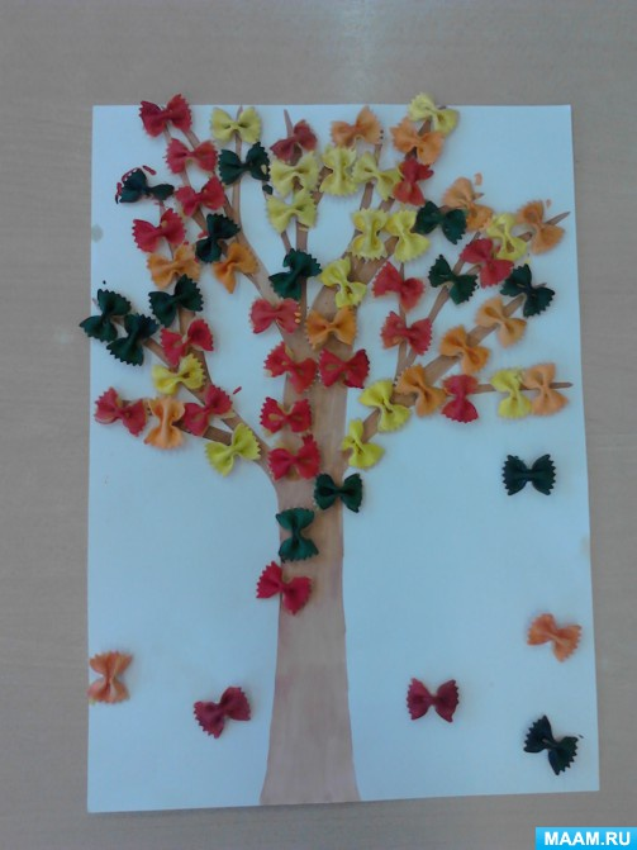 Конспект занятия по конструированию «Осеннее дерево» в средней группе