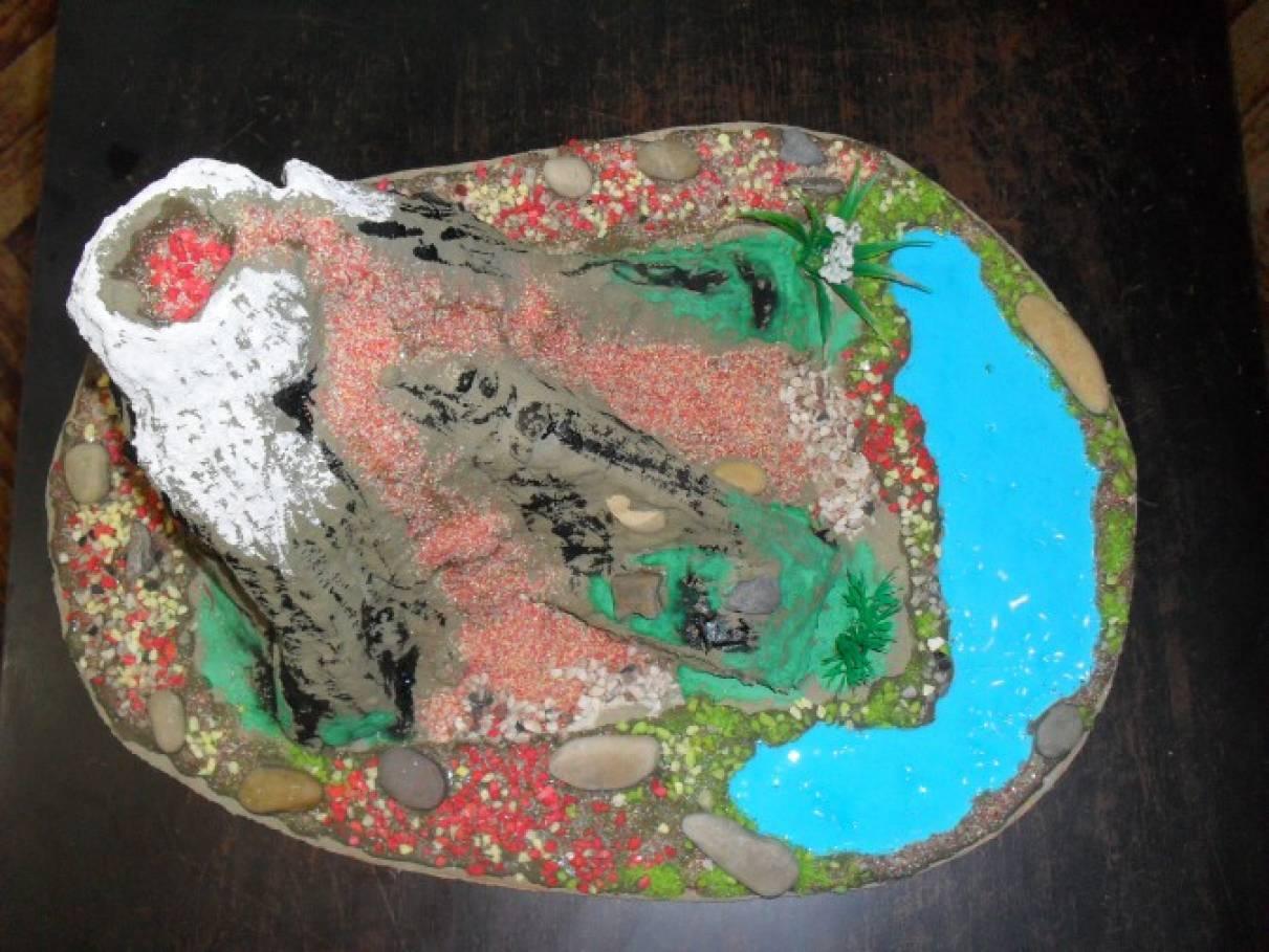Как сделать макет вулкана своими руками из подручных материалов 310