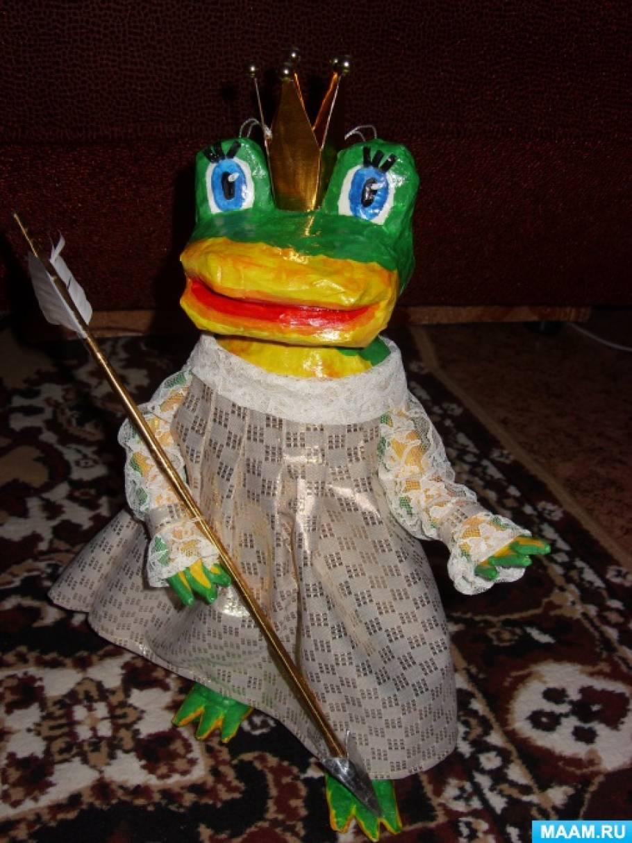 Игрушка в технике папье-маше «Царевна-лягушка»