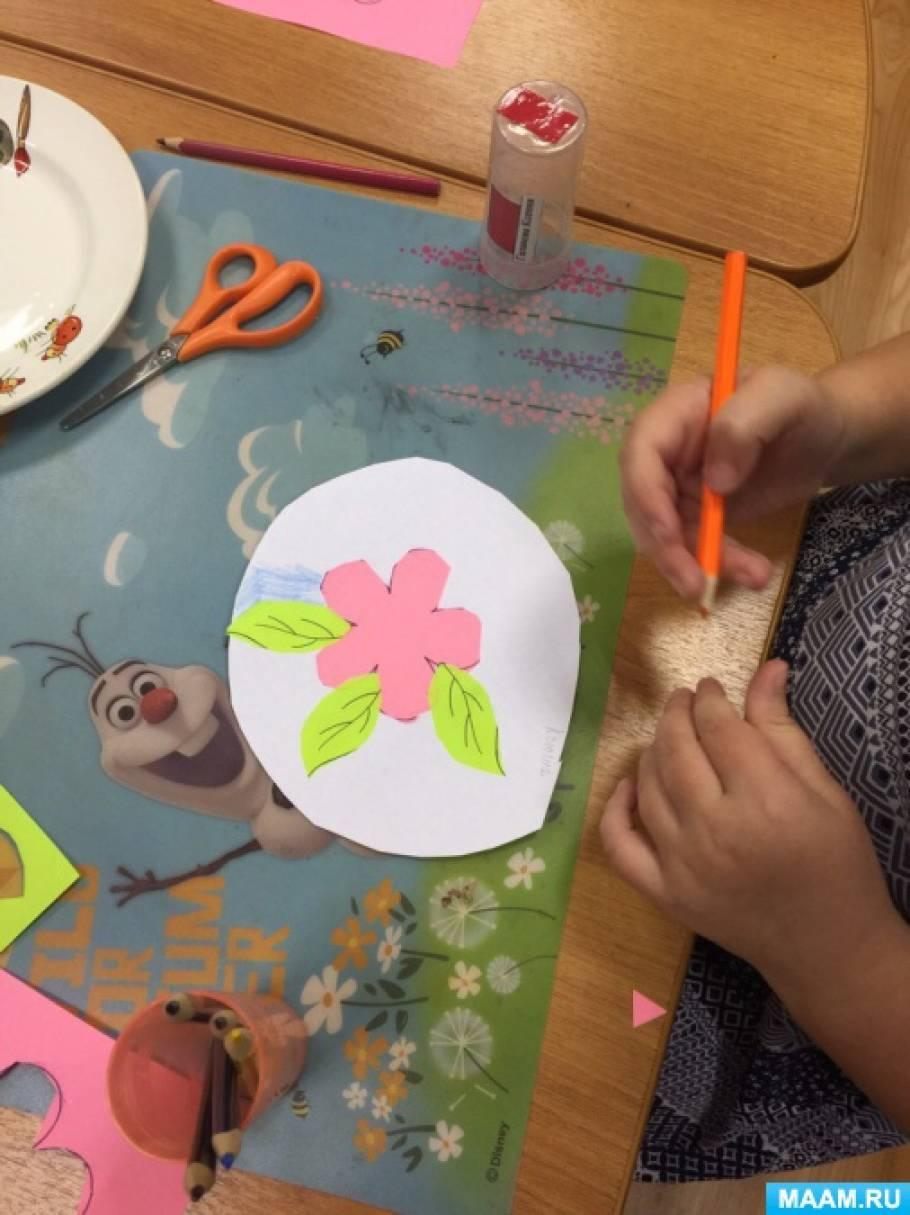 Занятие по аппликации «Декоративная тарелка»