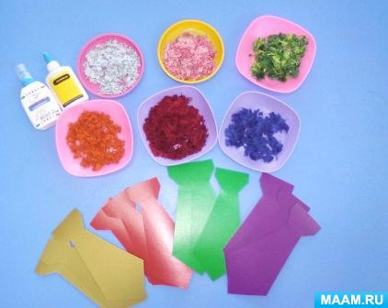 Ниткография— вид нетрадиционного рисования в детском саду. Подарок к 23 февраля «Галстук» и «Праздничный салют»