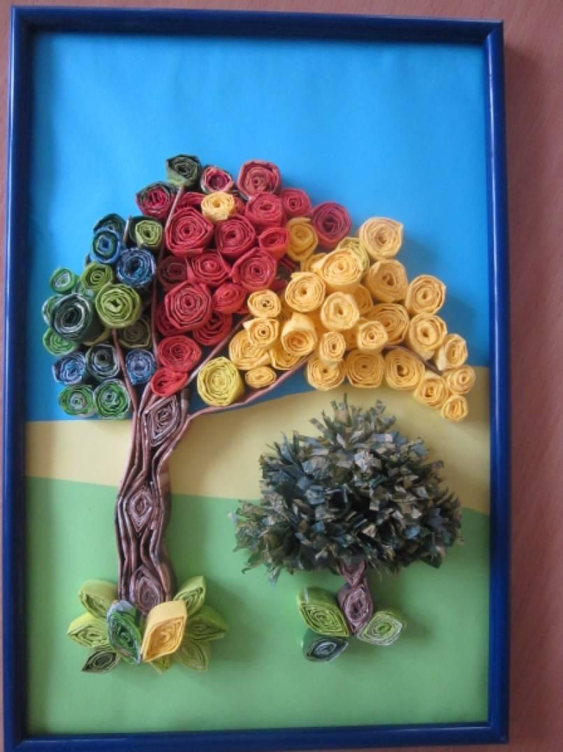 Картинки квиллинга для детей осень