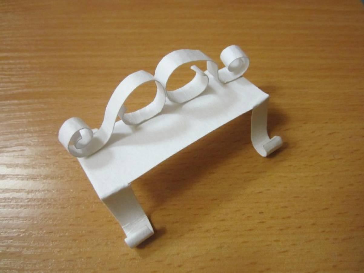 Как сделать скамейку из картона своими руками видео 92