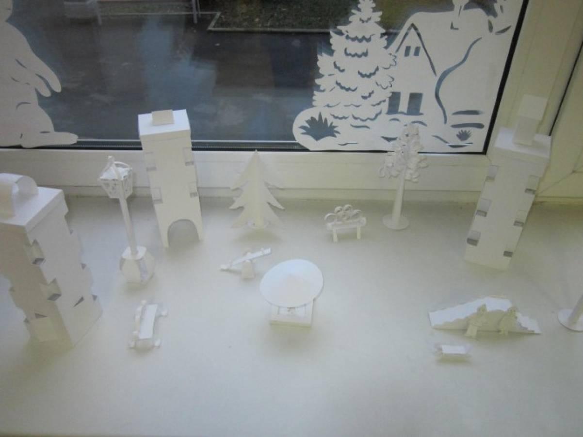 Мастер-класс: макет из бумаги «Белый город»