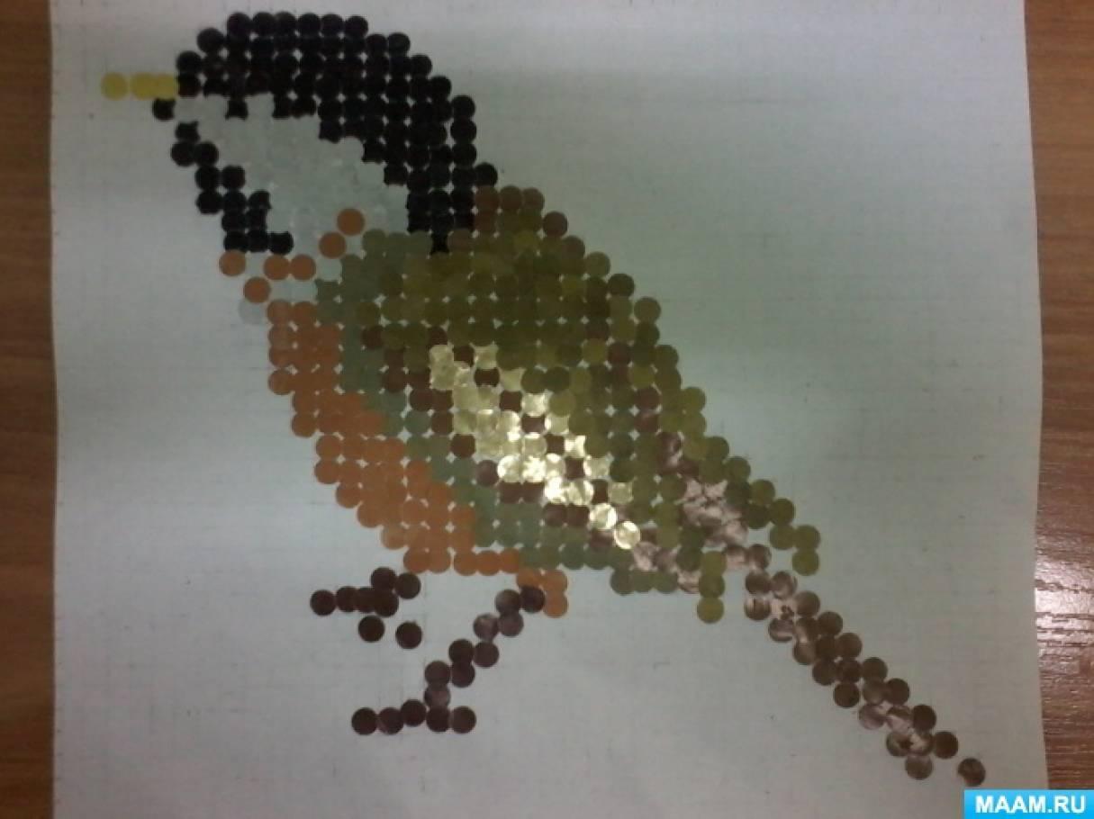 Мастер-класс по аппликации «Зимующие птицы» в технике бумажная мозаика