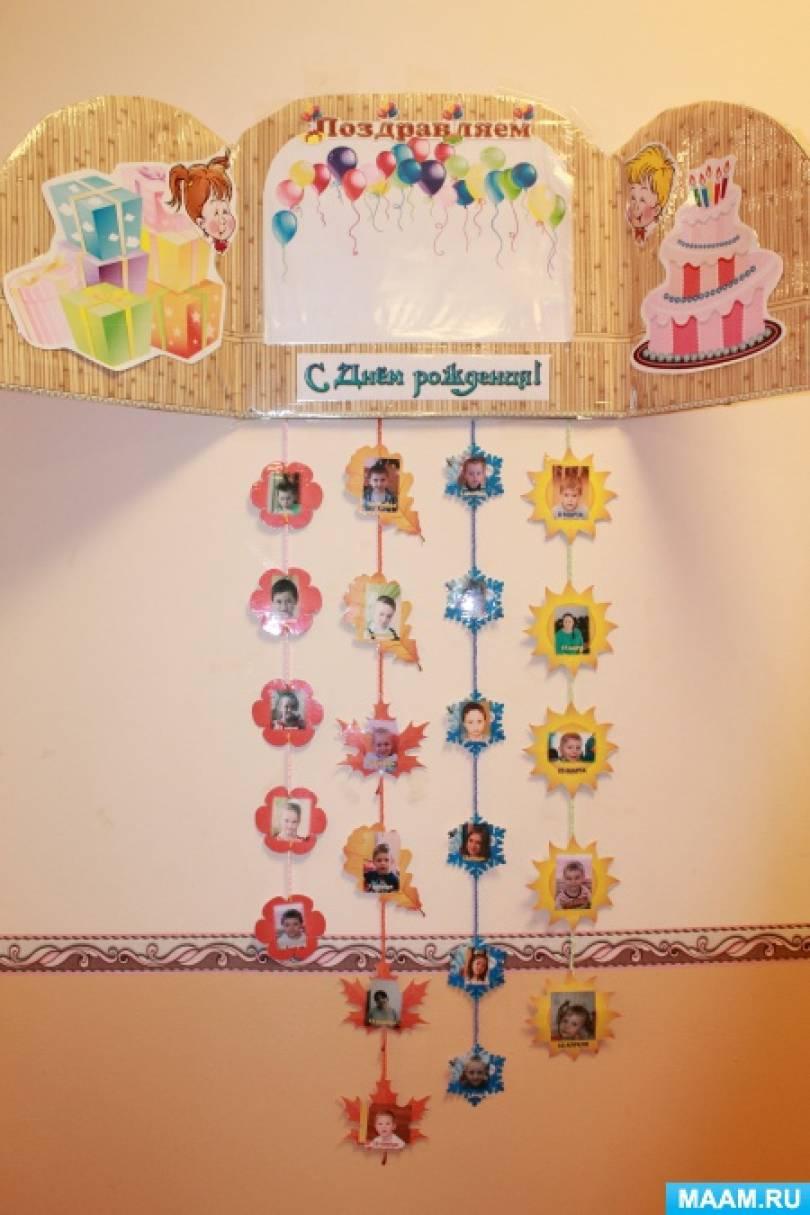 Оформление стенда с днём рождения в детском саду своими руками 42