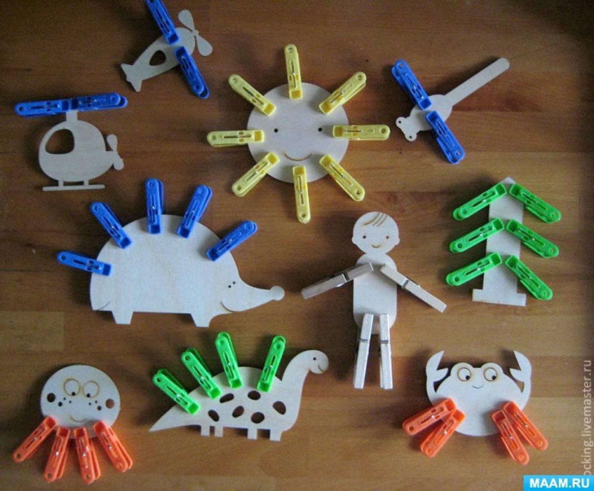 Развивающие игры с прищепками для малышей